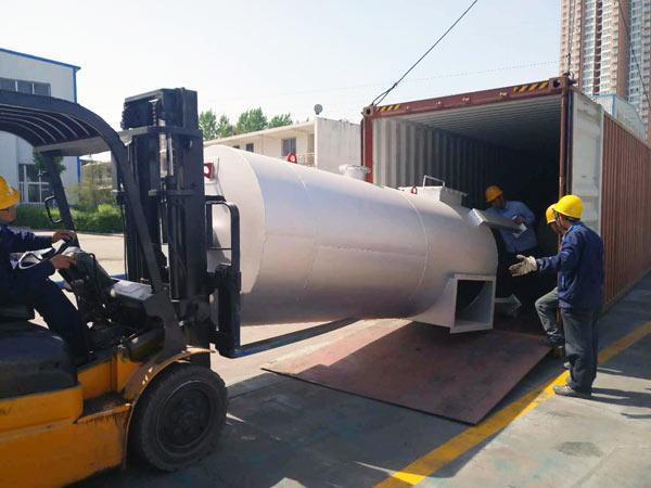 LB1200 asphalt plant deliverying