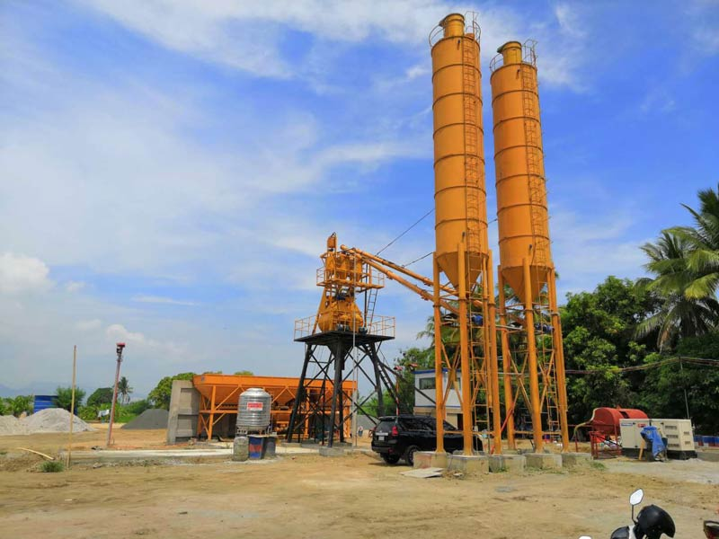HZS35 concrete plant in the Philippines