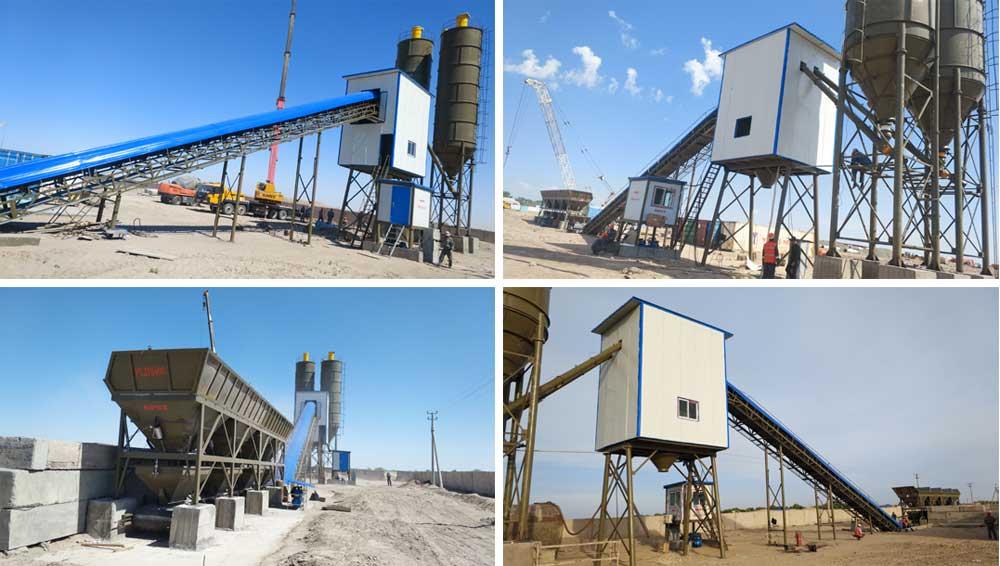 Installing Aimix Concrete Plant in Uzbekistan