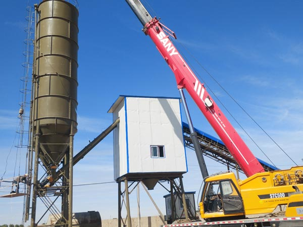 Installing Concrete Plant on Sites
