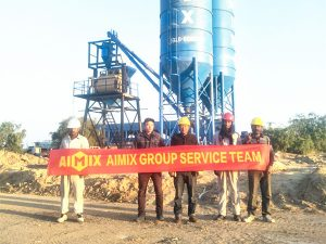 Aimix After-sales Team and Customer on Site