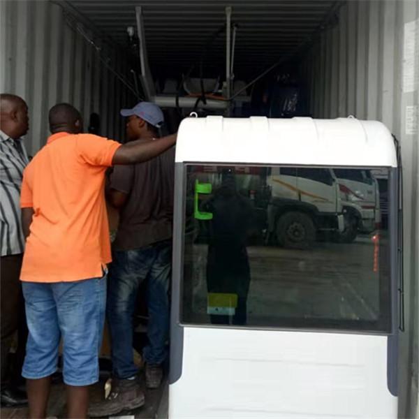 Unloading self loading mixer in Tanzania