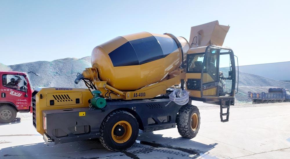 Aimix Self Loading Concrete Mixer Ready to Kenya