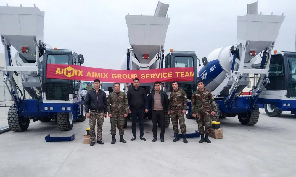 Commissioning Of Self Loading Mixer in Uzbekistan