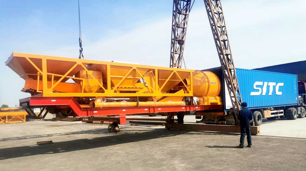 Concrete Mixing Plant Delivering to Indonesia